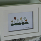Seaham Sea Glass Art - Framed - 8 x 6 inches