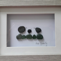 Personalised Pebble Art Birds - 8 x 6 inches - Unique, Eco friendly gift