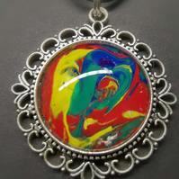 Abstract 1970s Pendant