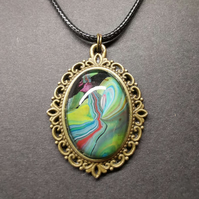 River Path acrylic art pendant