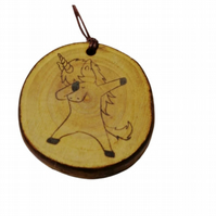 Dabbing Unicorn choker Pendant Handmade Wood Charm Personalised Necklace  Gift