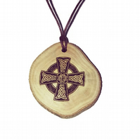 Celtic Cross Bespoke Oil Scented Handmade Air Freshener Wood Diffuser Charm