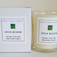Green Meadow Candle - Hand Poured Scented Soy Wax in UK - Eco Vegan Friendly