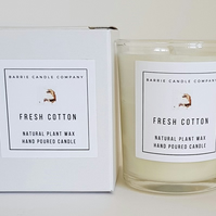 Fresh Cotton Candle - Hand Poured Scented Soy Wax in UK - Eco Vegan Friendly