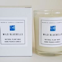 Wild Bluebells Candle - Hand Poured Scented Soy Wax in UK - Eco Vegan Friendly