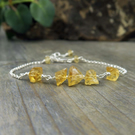 Raw Citrine Gemstone Bracelet