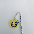 Silver plated bookmark with grinning Emoji