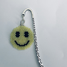 Silver plated bookmark with Smiling face Emoji