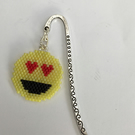 Silver plated bookmark with Emoji