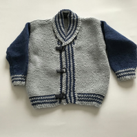 Hand knitted smart jacket for a 1 year old