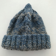 Hand knitted baby cabled hat
