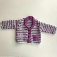 Beautiful and luxurious hand knitted baby jacket