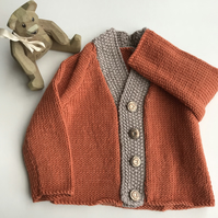 Classic sports style baby cardigan