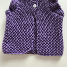 Baby cardigan with short ruffle sleeves