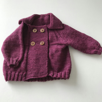Hand dyed wool baby jacket