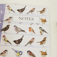 Garden Birds A5 Recycled Notebook - Lined Pages