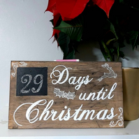 Days until Christmas wall plaque