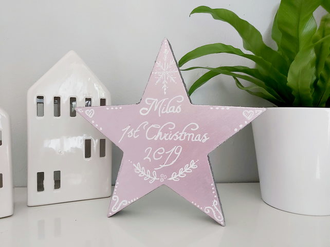 Personalised bsby 1st Christmas star
