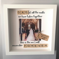 Father of the bride personalised wedding Scrabble frame
