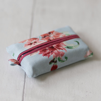 Pink and Blue Floral Tissue Holder