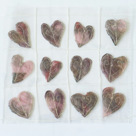12 Free Motion Embroidery Heart Embellishments  Card Making