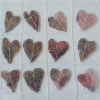 12 Free Motion Embroidery Heart Embellishments Valentine Card Making