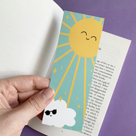 Sunshine Bookmark, Double Sided Weather Bookmark