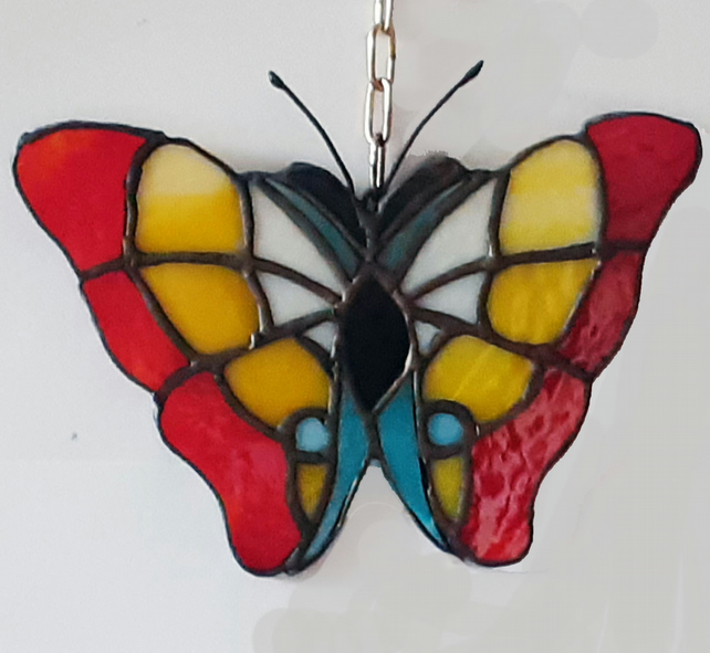 stained glass butterfly suncatcher,