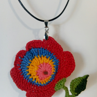 "Crocheted hungarian ""Matyo"" flower"