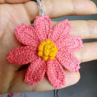 Crochet Cosmos flower necklace
