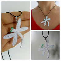 Crochet Dragonfly necklace