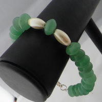 Green Adventurine and Coated Haematite Featuring 925 Sterling Silver Clasp