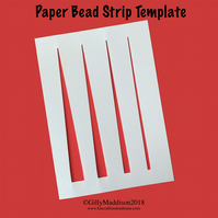 Paper Bead Template - Easily Draw Your Strips - Four Sizes On One Template