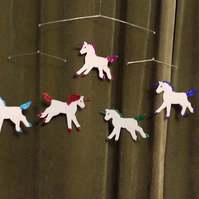 Unicorns moble hanging decoration