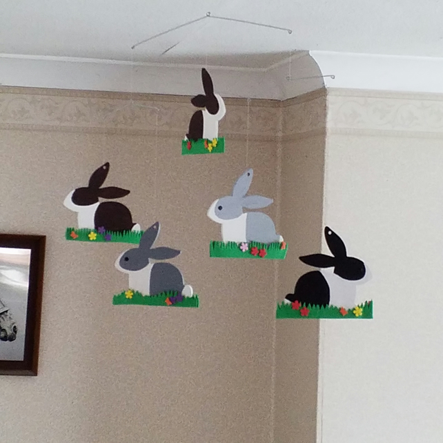 Dutch Bunnies decorative hanging mobile