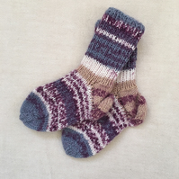 Hand-knitted Wool Baby Socks