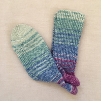 Hand-knitted Wool Socks, Size, UK 6-7,  EUR 39-40