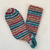 Hand-knitted Woolly Socks, Size, UK 8-9,  EUR 42-43, Free UK P&P