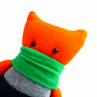 Amber the Sock Monster - collectable soft toy made from new socks