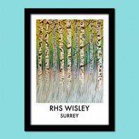 Wisley travel poster print; A4 unframed