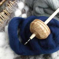 55g Drop Spindle and Fibre