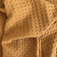100% cotton waffle fabric, nursery, blankets, hooded towels, throws, ochre