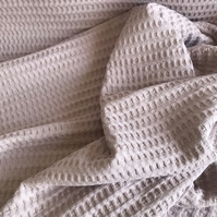 Coarsely knitted waffle fabric, 100% cotton, colour powder pink