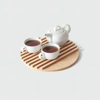 Round Serving Tray - MAPLE