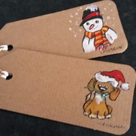 PERSONALISED HAND PAINTED CHRISTMAS TAGS