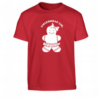Gingerbread Girl Children's T-Shirt matching family available!
