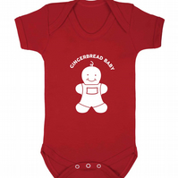Gingerbread baby vest matching items available for the family!