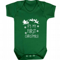 It's my first Christmas baby vest keepsake gift for new baby 938