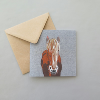 Suffolk Punch horse card