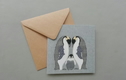 Arctic animal greetings cards